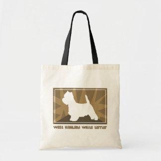 Earthy Westie Tote Bag