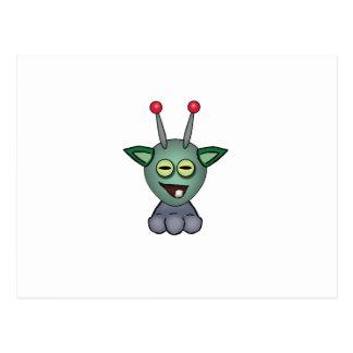 Eary Ogglof Squashy Creature Postcard