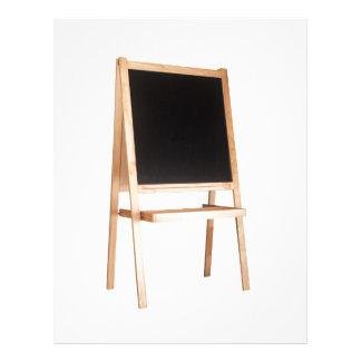 Easel with chalkboard letterhead design