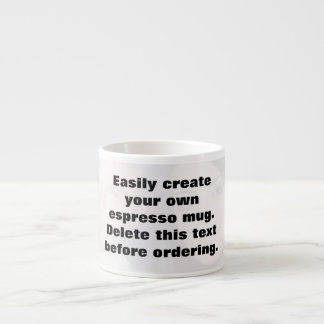 Easily create your own espresso photo mug