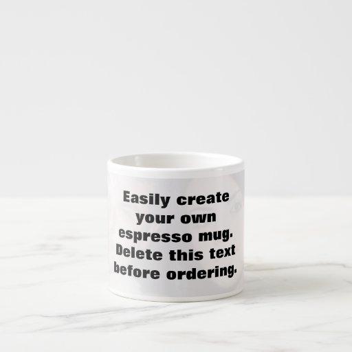 Easily create your own espresso photo mug espresso cups
