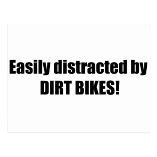 Easily Distracted By Dirt Bikes Post Cards