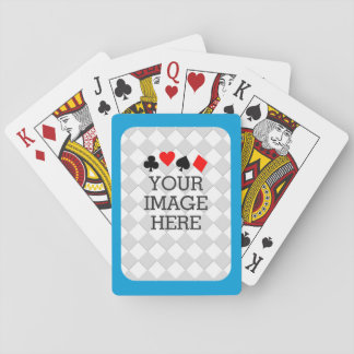 Easily Make Your Own in One Step in Sky Blue Poker Deck