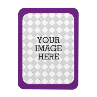 Easily Make Your Own Photo Display in Purple Frame Rectangular Photo Magnet