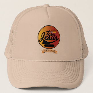 Easily Personalize This Team Jesus Trucker Cap
