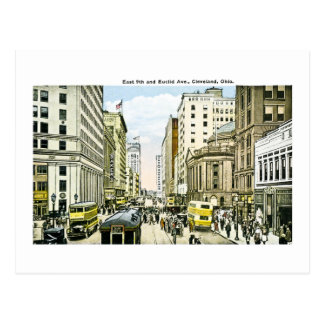 East 9th and Euclid Avenue, Cleveland, Ohio Postcard