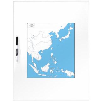 East Asia Whiteboard Map Dry-Erase Whiteboard