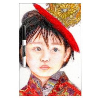 East Asian Child Dry-Erase Whiteboard
