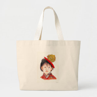 East Asian Child Large Tote Bag