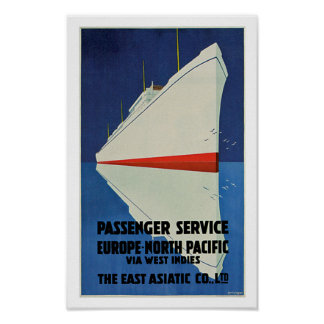 East Asiatic Company Passenger Service Poster