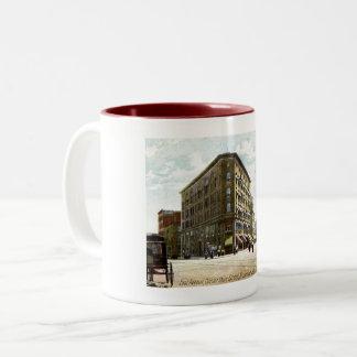 East Ave, Corner of Main, Rochester, New York Two-Tone Coffee Mug