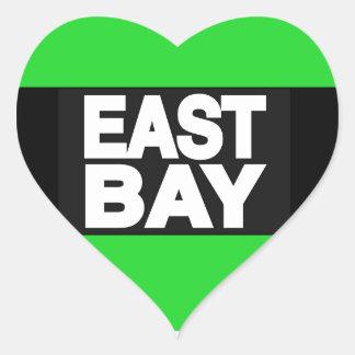 East Bay 2 Green Heart Sticker