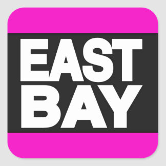 East Bay 2 Pink Square Sticker