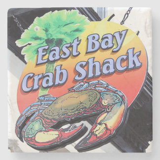 East Bay Crab Shack Charleston, SC. Marble Stone C Stone Coaster