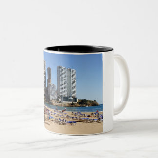 East beach of Benidorm Two-Tone Coffee Mug