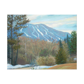 East Burke Vermont Burke Mountain in the winter Canvas Print
