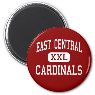 East Central - Cardinals - High - Tulsa Oklahoma 2 Inch Round Magnet