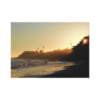 East Cliff Drive Beach Canvas Print