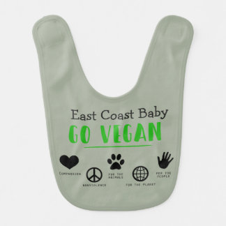 East Coast Baby Go vegan for the planet baby bib