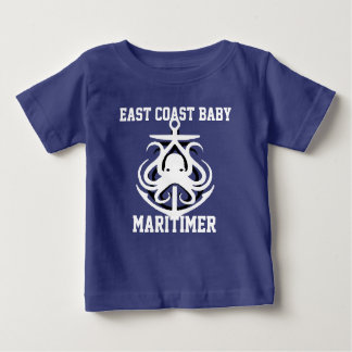 East Coast Baby Maritimer anchor octopus blue Baby T-Shirt