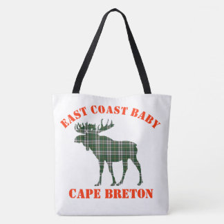 East Coast Baby moose Cape Breton tartan Bag