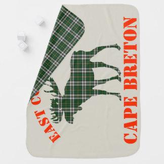 East Coast Baby moose  Cape Breton tartan  blanket Receiving Blanket