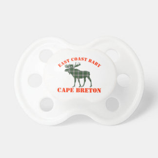 East Coast Baby moose  Cape Breton tartan  soother Pacifiers