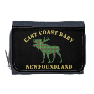 East Coast Baby Newfoundland moose tartan Denim Wallets