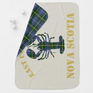 East Coast Baby Nova Scotia Lobster tartan blanket Receiving Blankets
