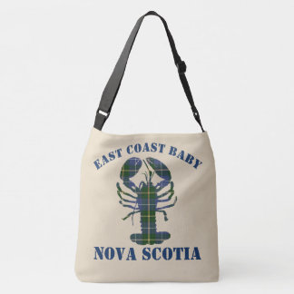East Coast Baby Nova Scotia Lobster tartan  blue Crossbody Bag