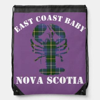 East Coast Baby Nova Scotia Lobster Tartan purple Drawstring Bag