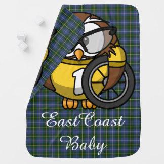 East Coast baby owl bike  Nova Scotia Tartan Receiving Blankets