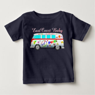 East Coast Baby peace love no more war van Baby T-Shirt
