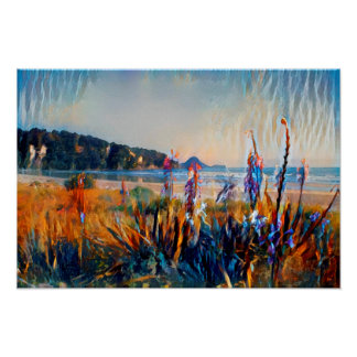 East Coast Beach - New Zealand Watercolour Print