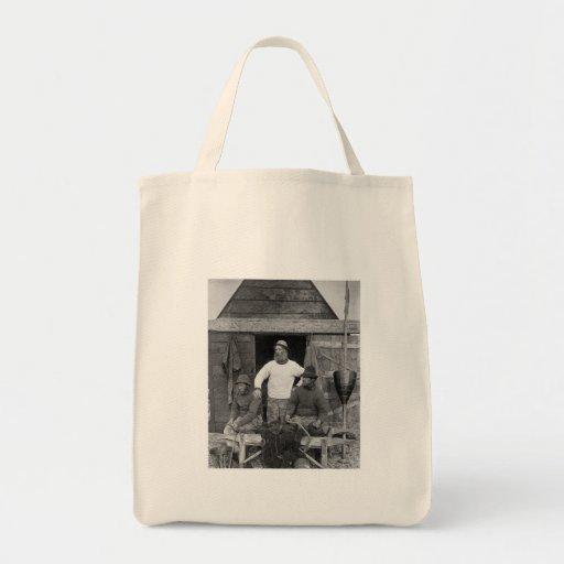East Coast Fisherman - Vintage Photo Tote Bags