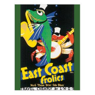 East Coast Frolics Postcard