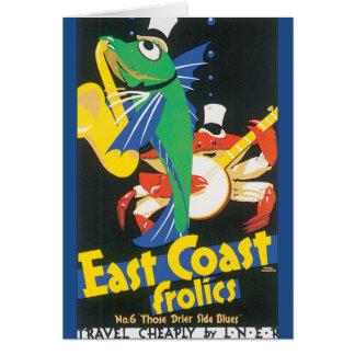 East Coast Frolics Vintage Travel Poster Card