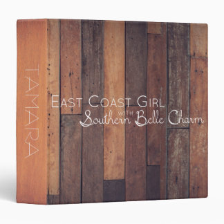 East Coast Girl with Southern Belle Charm 3 Ring Binders