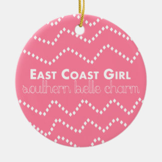 East Coast Girl with Southern Belle Charm Ceramic Ornament
