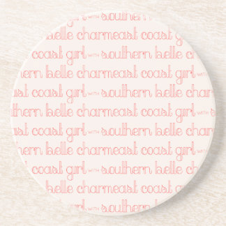 East Coast Girl with Southern Belle Charm Coaster