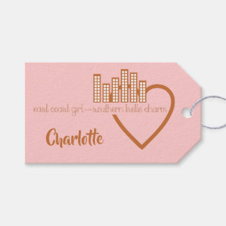 East Coast Girl with Southern Belle Charm Gift Tags