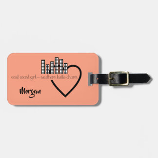 East Coast Girl with Southern Belle Charm Luggage Tag
