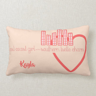 East Coast Girl with Southern Belle Charm Lumbar Pillow