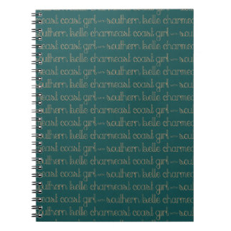 East Coast Girl with Southern Belle Charm Notebooks