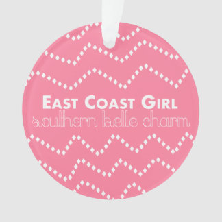 East Coast Girl with Southern Belle Charm Ornament