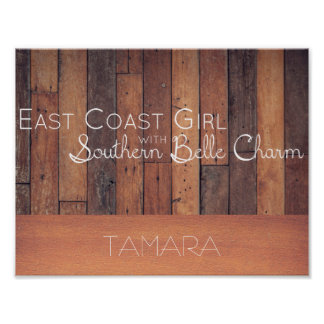 East Coast Girl with Southern Belle Charm Poster