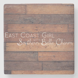 East Coast Girl with Southern Belle Charm Stone Coaster