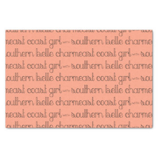 East Coast Girl with Southern Belle Charm Tissue Paper