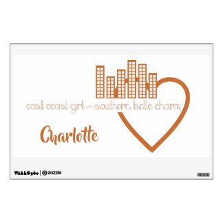 East Coast Girl with Southern Belle Charm Wall Decal