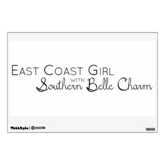 East Coast Girl with Southern Belle Charm Wall Sticker